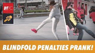 Blindfold penalties prank! | Football tricks on the public