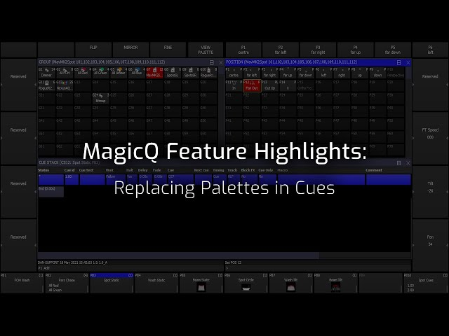 Replacing Palettes In Cues