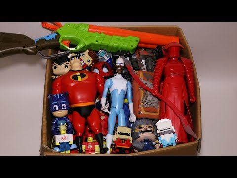 Box Of Toys: Action Figures, Cars, Roblox, The Incredibles And More