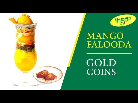 How to Make Mango Falooda and Gold Coin ||  YummyOne