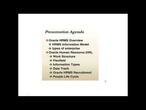 Oracle EBS R12 HRMS Training   1st Session