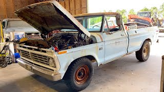 SWAMP Dragon Rescue! Brake & Pan Abandoned 1974 F250 V8 FORD Forgotten Vintage Camper Restoration CT