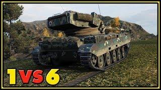 AMX 13 105 - 11 Kills - 1 VS 6 - World of Tanks Gameplay