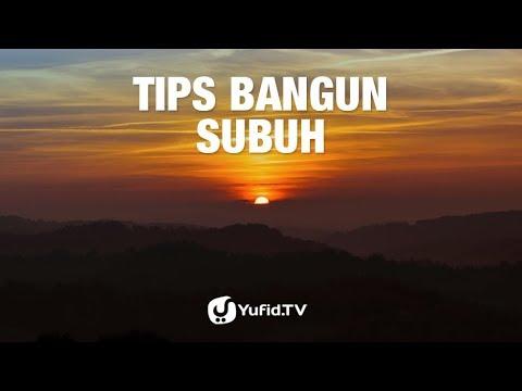 Tips Bangun Subuh - Poster Dakwah Yufid TV