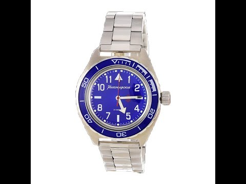 Видео обзор механических часов ВОСТОК 2415 (650852) на браслете