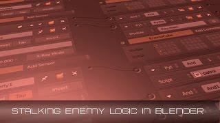 Blender Game Engine - Stalking Enemy AI.