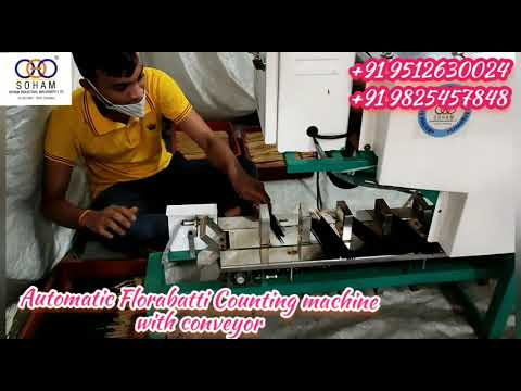 Automatic  Florabatti Counting Machine With Conveyor