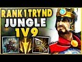 1 TRYND WORLD MURDERS TF BLADE SCRUBNOOB WITH JUNGLE TRYNDAMERE FT SHIPTHUR League of Legends