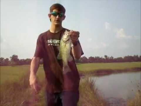 Pond fishing with a chug bug and Pit Boss