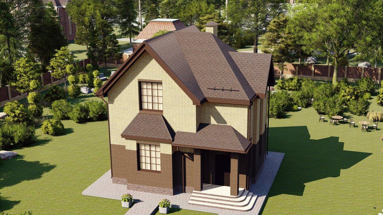 Проект компактного дома из газобетона 110 м2