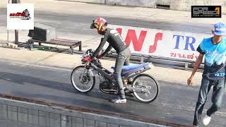 Street Drag Bike รุ่น หลีด4 หลีดขาว ลูก67 ชั่ง115โล 25สิงหาคม2562