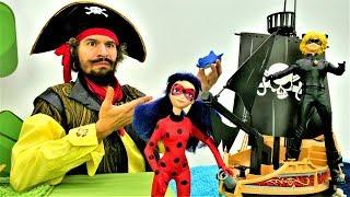 Леди Баг и Кот на пиратской вечеринке! Видео с игрушками.