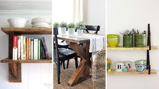 10 DIY Rustic Furniture Ideas For Dining Room And Kitchen