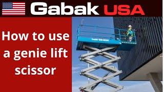 how to use a genie lift scissor