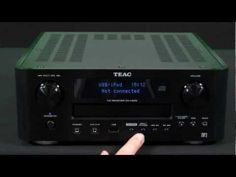TEAC CR-H500 CD-Receiver mit MP3-Aufnahme (iPod USB-Eingang, FM Tuner, Timer)