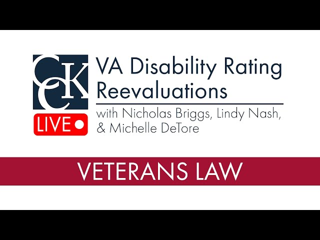 VA Disability Rating Reevaluations