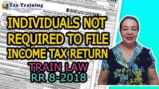 Individuals Not Required To File Income Tax Return