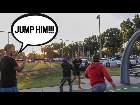 THEIR WHOLE HOOD TRIED TO JUMP ME!! 5v5 Basketball At The Park!
