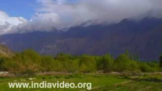 Majestic Mountains and Splendid Greenery: Hundar Village