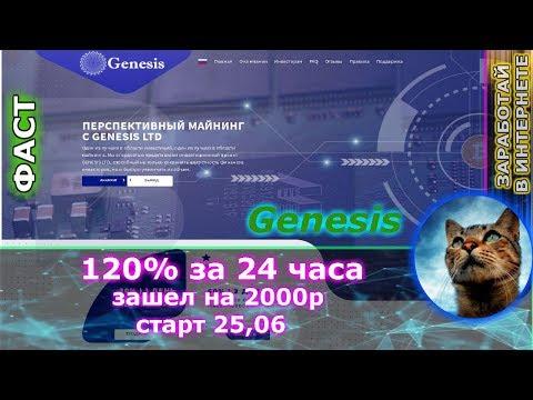 СТОП СКАМ!!!! Genesis - 400 рублей в день до 100% за 3 дня