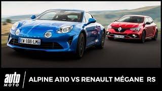 AlpineA110vsRenaultMéganeRS-COMPARATIF:roulezjeunesse