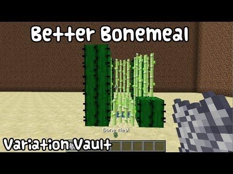 Minecraft Bukkit Plugin - Better Bonemeal - Grow cactus and sugar!