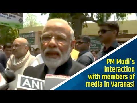 PM Modi's interaction with members of media in Varanasi