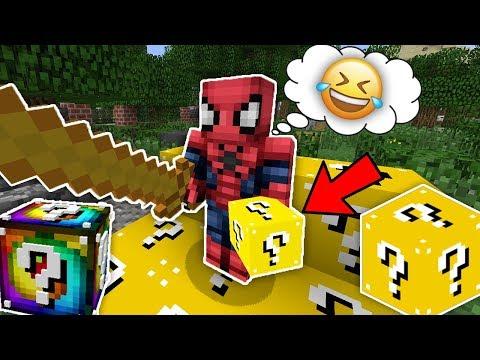 ZENGİN ÖRÜMCEK ADAM VS ŞANS BLOKLARI - Minecraft