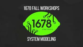 2016 Fall Workshops - System Modeling