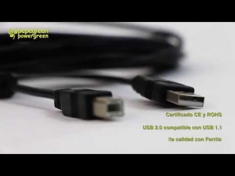 CABLE USB 2.0 IMPRESORA TIPO AM-BM CON FERRITA PEPEGREEN ®