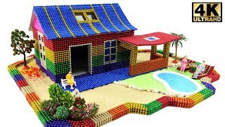 DIY How To Build Easy House Has Swimming Pool With Magnetic Balls 💖 Surprise Balls