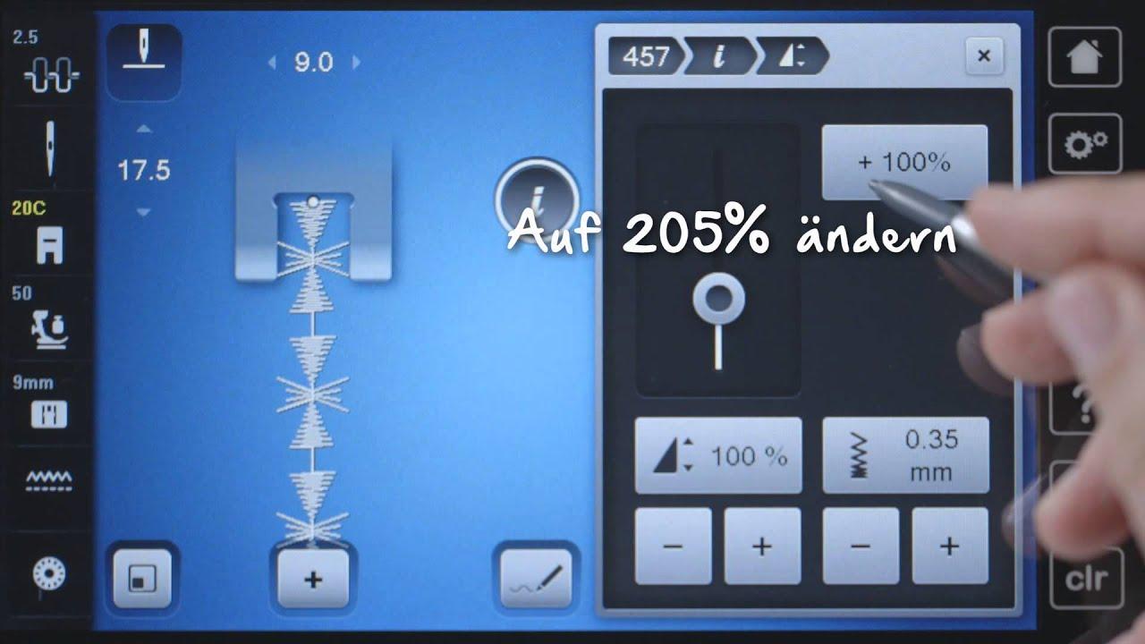 BERNINA 790 PLUS: Stichmuster verändern