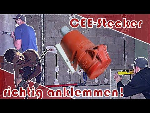 Wie schließe ich einen CEE-Stecker richtig an? │ So geht das!