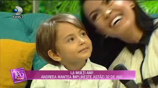 Teo Show (20.09.) - Andreea Mantea, cele mai frumoase aniversari! Astazi implineste 32 de ani!