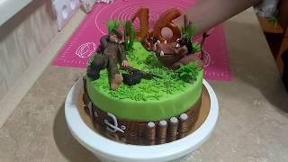 Торт для охотника и рыболова фото