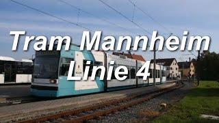 preview picture of video '[Video] Straßenbahnlinie 4 der Rhein-Neckar-Verkehr GmbH, Mannheim'