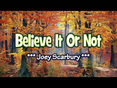 Believe It Or Not - KARAOKE VERSION - As popularized by Joey Scarbury