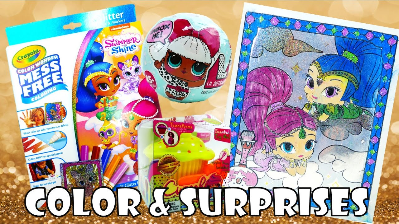 Shimmer and Shine Color Wonder Glitter Effects Coloring and Surprises | Evies Toy House