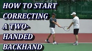 Correcting A Two Handed Backhand Tennis Stroke   What's The Mental Image
