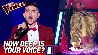 TOP 10 | Unbelievably LOW Voices in The Voice