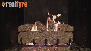 Peterson Real Fyre See Through Vented Gas Log Set- Golden Oak