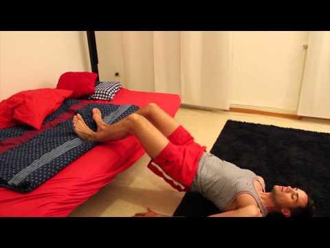 Eine Massage mit Rückenschmerzen