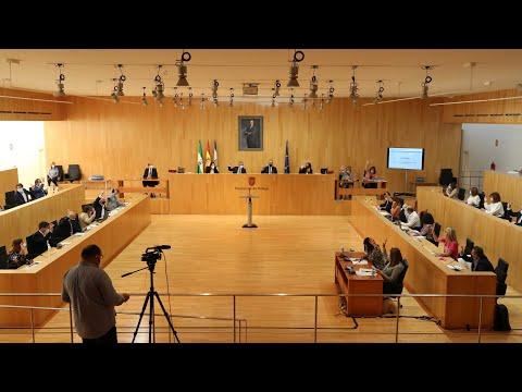 Pleno ordinario de la Diputación de Málaga. Octubre de 2021