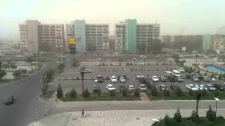 preview picture of video 'Актау, сильный ветер с пылью. 2014. 06. 23.'