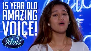 Emotional 15 YEAR OLD Alyssa Raghu Blows Judges Away With Ariana Grande Cover On American Idol 2018 - Video Youtube