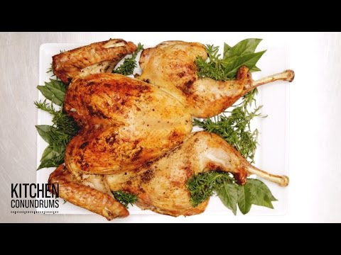 How to Spatchcock a Turkey for Thanksgiving – Kitchen Conundrums with Thomas Joseph