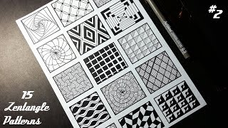 15 Zentangle Patterns | Part 2 | Angga Art Tutorials