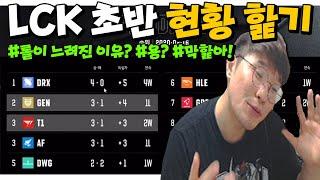 """""""LCK 초반 현황 핥기"""" 시즌 초반이지만 상위권과 하위권을 알아보자! (feat.롤이 느려진 이유 aka 용?)"""
