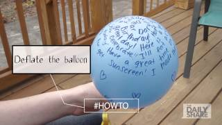 How To: Send a message on a balloon