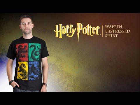 Harry Potter: Hogwarts-Shirt mit Häuser-Wappen